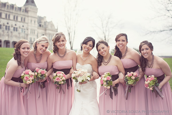 pink brown bridesmaids dresses, outdoor, vintage, Society Room, Hartford, CT, Wedding Pictures Photos, Victoria Souza Photography, Best CT Wedding Photographer
