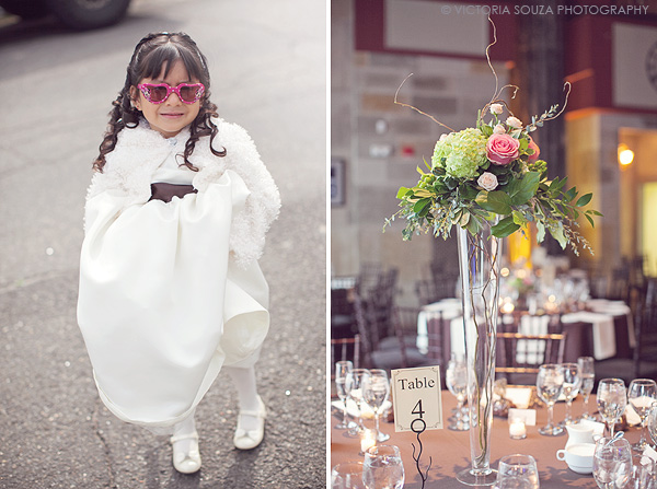 white flower girl dress, pink green tall table centerpiece, outdoor, vintage, Society Room, Hartford, CT, Wedding Pictures Photos, Victoria Souza Photography, Best CT Wedding Photographer
