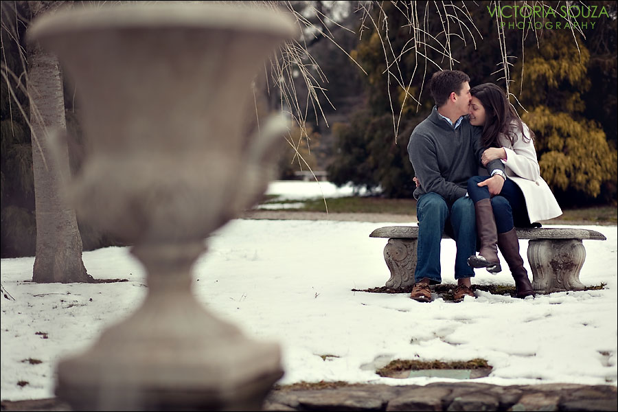 CT Wedding Photographer, Victoria Souza Photography, Burr Homestead, Fairfield, Connecticut, CT, Snow, Engagement Wedding Portrait Photos