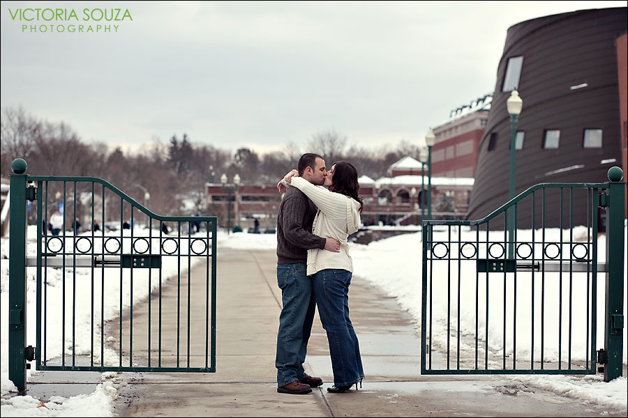 CT Wedding Photographer, Victoria Souza Photography, New Britain, Connecticut, CT, Snow, CCSU Engagement Wedding Portrait Photos