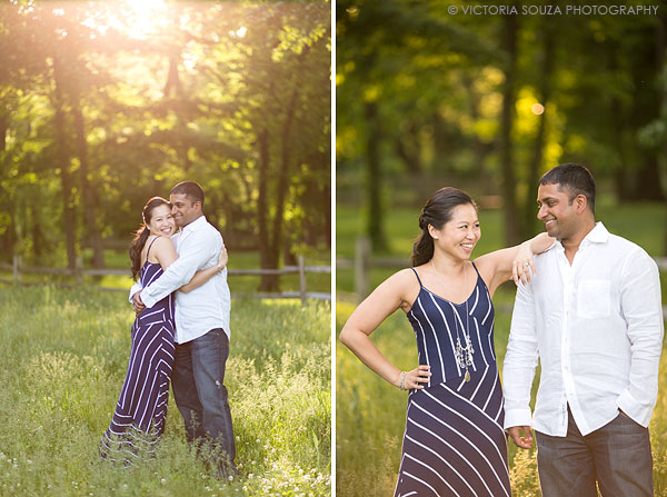 open field, sun flare, trees, Twin Brooks Park, Trumbull, CT, Wedding Engagement Pictures Photos, Victoria Souza Photography, Best CT Wedding Photographer