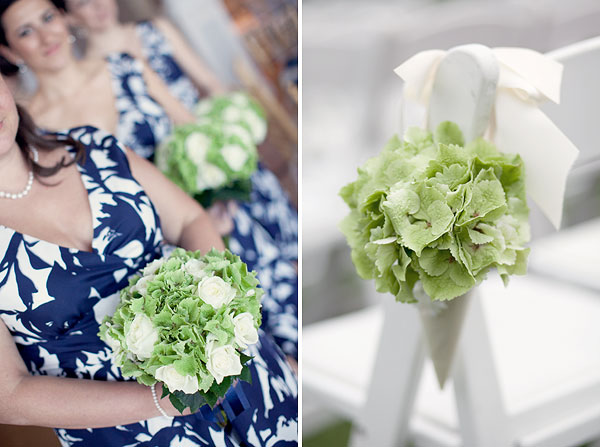 blue white bridesmaid, green white flowers, Guilford Yacht Club, Guilford, CT Wedding Pictures Photos, Victoria Souza Photography, Best CT Wedding Photographer