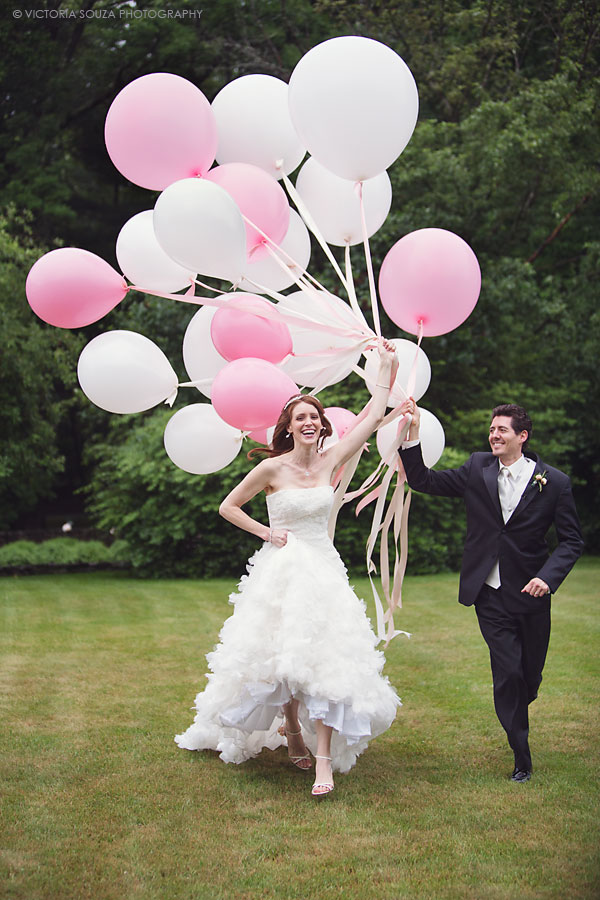 big pink white balloons, Lord Thompson Manor, Thompson, CT, elegant, luxury, Wedding Pictures Photos, Victoria Souza Photography, Best CT Wedding Photographer
