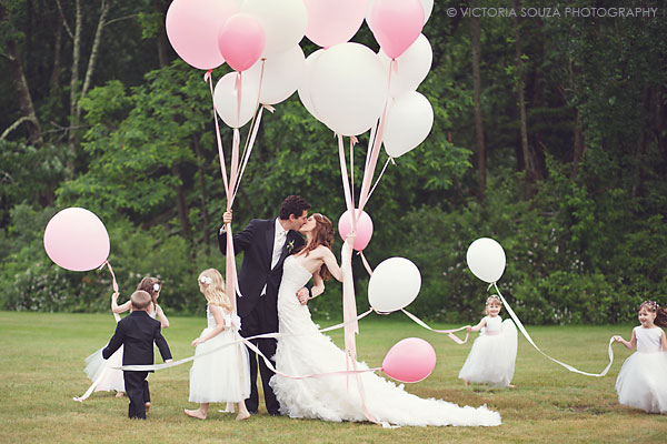 white pink balloons, flower girl ring bearer, Lord Thompson Manor, Thompson, CT, elegant, luxury, Wedding Pictures Photos, Victoria Souza Photography, Best CT Wedding Photographer