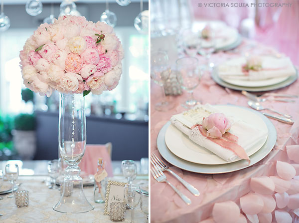 white pink peony tall centerpiece, vintage lace napkins, Lord Thompson Manor, Thompson, CT, elegant, luxury, Wedding Pictures Photos, Victoria Souza Photography, Best CT Wedding Photographer