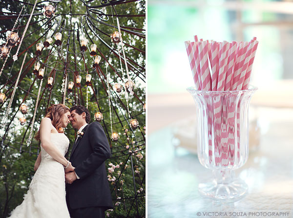 hanging candles and crystals, pink and white straws, Lord Thompson Manor, Thompson, CT, elegant, luxury, Wedding Pictures Photos, Victoria Souza Photography, Best CT Wedding Photographer