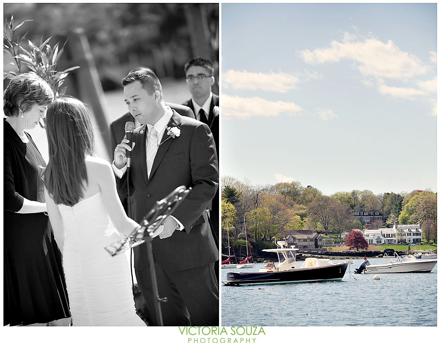 Indian Harbor Yacht Club, Morello, Greenwich, CT Wedding Pictures Photos, Victoria Souza Photography, wedding ceremony ocean water, Best CT Wedding Photographer