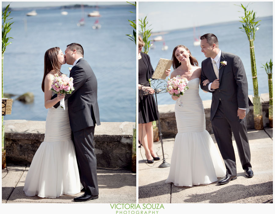 Indian Harbor Yacht Club, Morello, Greenwich, CT Wedding Pictures Photos, Victoria Souza Photography, ceremony by the sea, Best CT Wedding Photographer