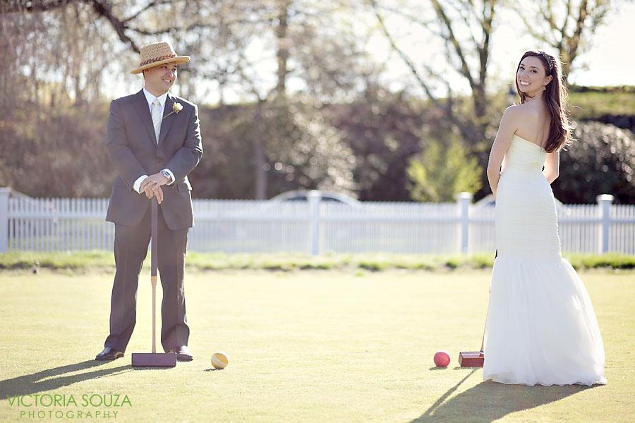 Indian Harbor Yacht Club, Morello, Greenwich, CT Wedding Pictures Photos, Victoria Souza Photography, vintage wedding croquet, Best CT Wedding Photographer