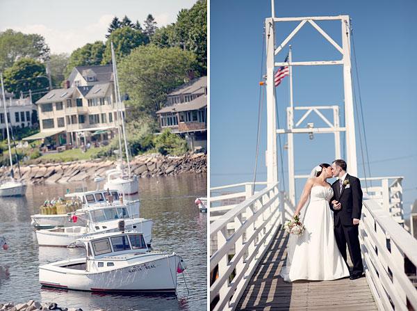 boats, bride and groom, marginal way, Cliff House Resort, Ogunquit, ME, Wedding Pictures Photos, Victoria Souza Photography, Best CT Wedding Photographer