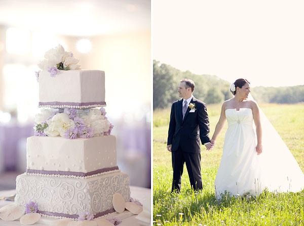 wedding cake, white purple, bride and groom, Cliff House Resort, Ogunquit, ME, Wedding Pictures Photos, Victoria Souza Photography, Best CT Wedding Photographer