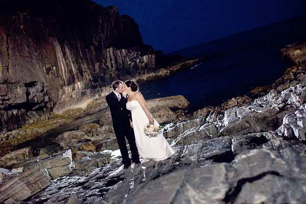 night beach rocks water, Cliff House Resort, Ogunquit, ME, Wedding Pictures Photos, Victoria Souza Photography, Best CT Wedding Photographer