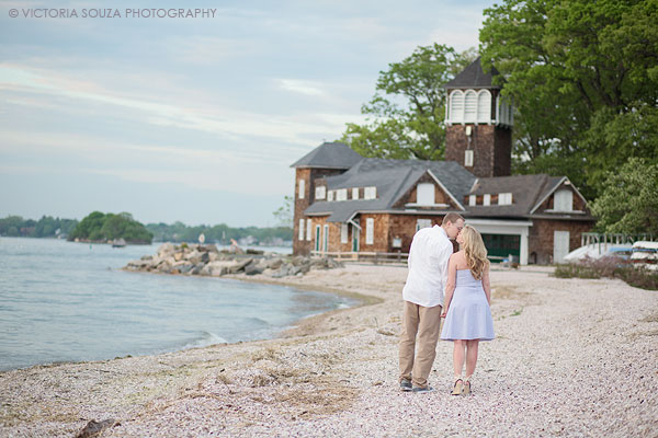 open field, sun flare, trees, beach, Binney Park, Tod's Point, Greenwich, CT, Wedding Engagement Pictures Photos, Victoria Souza Photography, Best CT Wedding Photographer