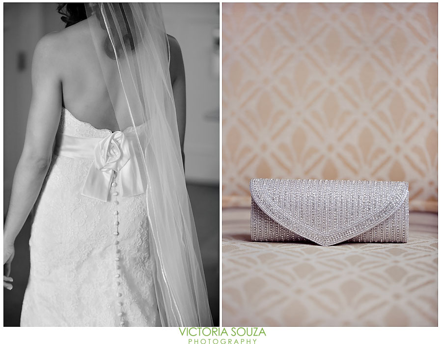 Candlewood Inn, Brookfield, CT Wedding Pictures Photos, Victoria Souza Photography, Lace wedding gown, Silver Beaded Clutch Handbag, Best CT Wedding Photographer