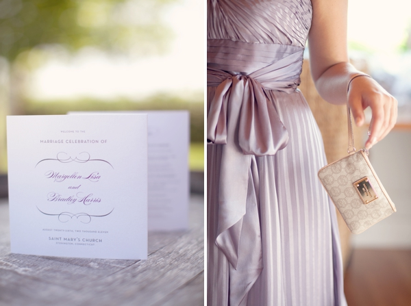 purple bridesmaids MIchael Kors clutch Saltwater Farms Vineyard, Stonington, CT,  Wedding Pictures Photos, Victoria Souza Photography, Best CT Wedding Photographer