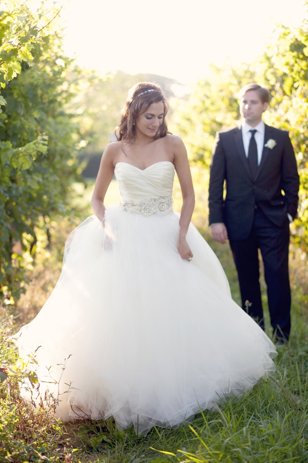 Lazaro ball gown, Saltwater Farms Vineyard, Stonington, CT,  Wedding Pictures Photos, Victoria Souza Photography, Best CT Wedding Photographer
