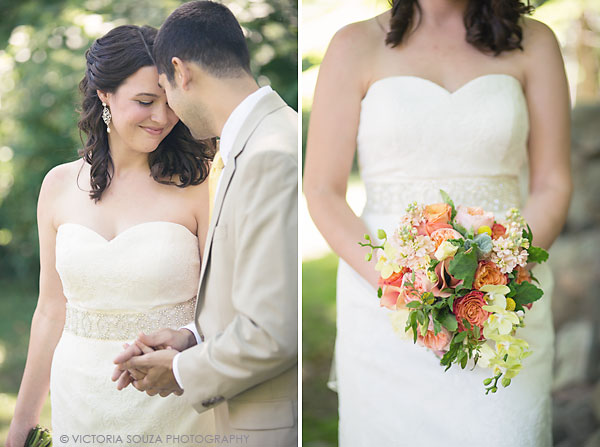 pink, orange, yellow bridal flowers, Private Residence, Wilton, CT, Wedding Pictures Photos, Victoria Souza Photography, Best CT Wedding Photographer