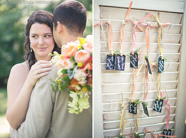 unique chalkboard ribbon nametag escort cards, Private Residence, Wilton, CT, Wedding Pictures Photos, Victoria Souza Photography, Best CT Wedding Photographer