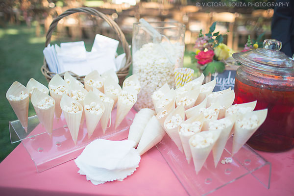 popcorn snack wedding ceremony, Private Residence, Wilton, CT, Wedding Pictures Photos, Victoria Souza Photography, Best CT Wedding Photographer