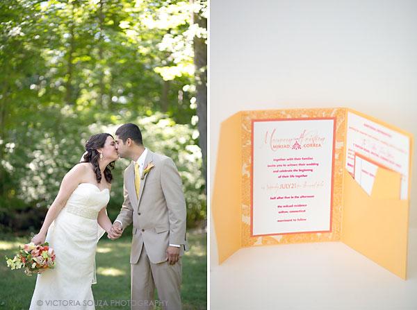 yellow wedding invitation, Private Residence, Wilton, CT, Wedding Pictures Photos, Victoria Souza Photography, Best CT Wedding Photographer