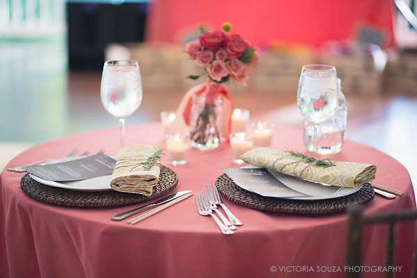 sweetheart table setting, pink yellow, rosemary, Private Residence, Wilton, CT, Wedding Pictures Photos, Victoria Souza Photography, Best CT Wedding Photographer