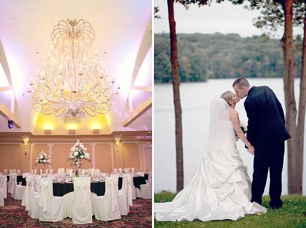white and black centerpieces, pink uplighting, waterview, monroe, ct, Wedding Pictures Photos, Victoria Souza Photography, Best CT Wedding Photographer