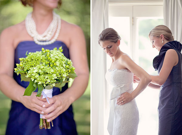 navy blue bridesmaid dress, green bouquet, jim helm wedding gown, lace, Inn at Mystic, Mystic, CT, Wedding Pictures Photos, Victoria Souza Photography, Best CT Wedding Photographer