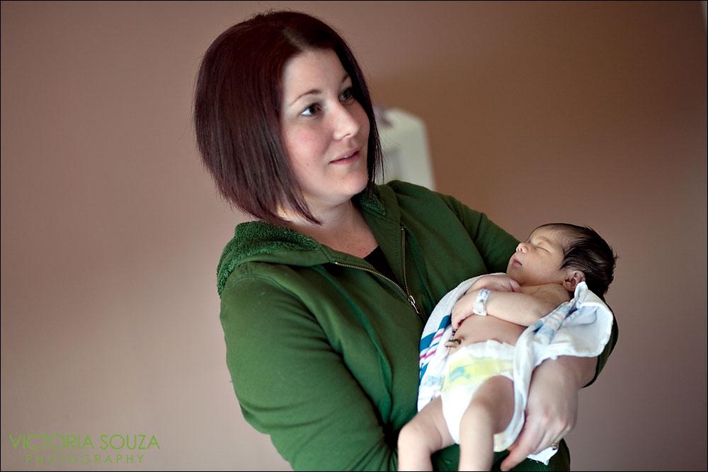 CT Wedding Photographer, Victoria Souza Photography, New Haven CT Newborn Family Portrait